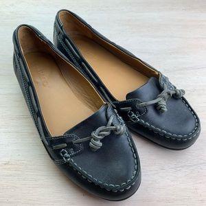 Sebago | black leather loafer | Felucca Lace